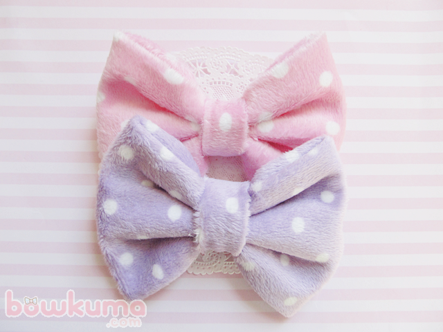 Fuwa fuwa bow from bow ♥ kuma 毛の リボン くま on storenvy