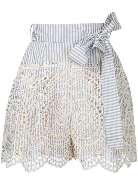 Zimmermann shorts women cotton blue