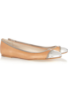 Toe leather ballet flats