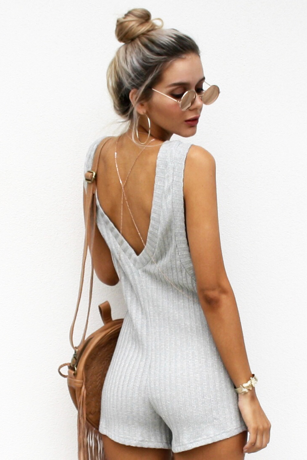Buy Province Playsuit - Grey Online by SABO SKIRT