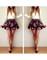 Roses floral flower dress long sleeves v neck short mini dresses skirt