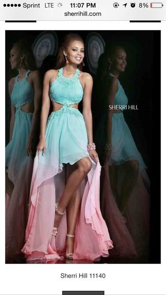 gown ombré dress sherri hill