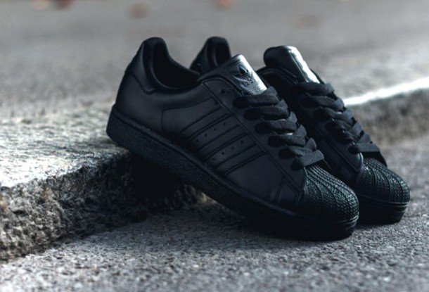 Adidas Superstar Black Tumblr