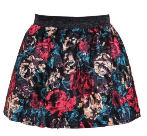 Floral High Waist Flare Mini Skirt