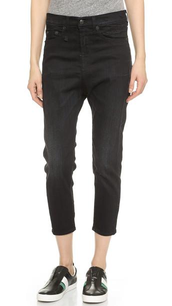 R13 The Drop Ankle Jeans - Black