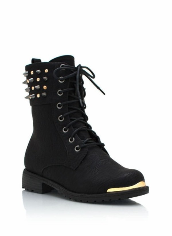 Shoes: pastel goth, goth shoes, goth, spikes, spiked shoes, combat ...