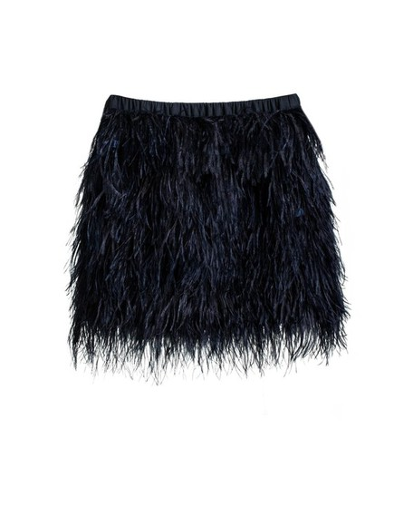 feather black skirt feather skirt blue navy navy blue ostrich party new years