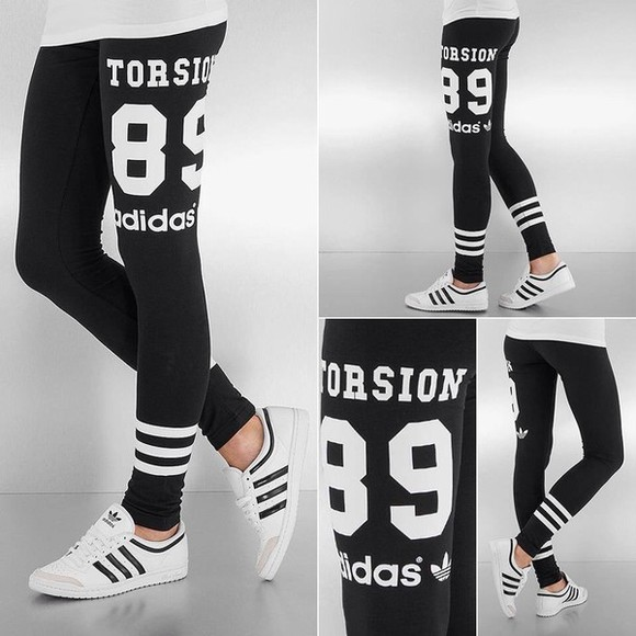 leggings pants black adidas sweat pants adidas, black, white, tights
