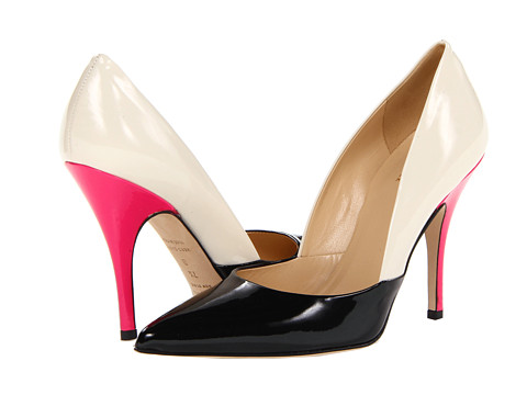 Kate Spade New York Lottie '13 Black Patent Porcelain/Lipstick Pink Patent - Zappos Couture