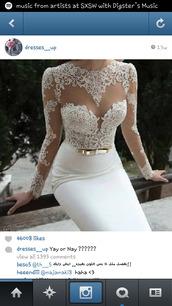dress,white,cream,wedding dress,lace,floral,timeless,mesh,see through,summer,pencil skirt