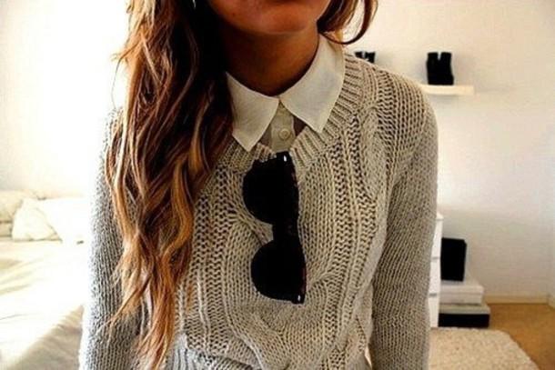 sweater boyish blouse jumper beige shoes jeans knitted sweater knitwear cable knit cable knit cableknit cute preppy preppy shoes dressy girly shoes