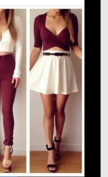 skirt skater skirt shirt