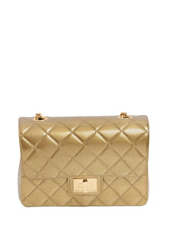 quilted bag shoulder bag gold