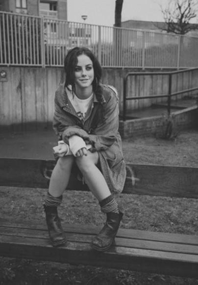 shoes skins effy stonem jacket effy grunge soft grunge boots girl indie ankle boots