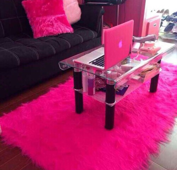 home decorators collection faux sheepskin hot pink 2 ft x 3 ft area the home depot