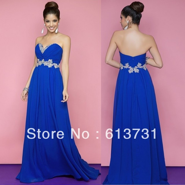Shipping 2013 Full Length Strapless Formal Evening Gown by Blush ...