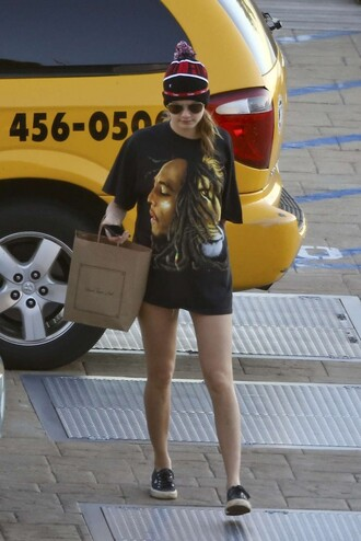 t-shirt top cara delevingne streetstyle