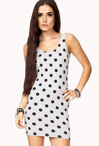 Sweet Polka Dot Bodycon Dress | FOREVER 21 - 2000074611