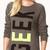 Forever 21 Cool Girl Geek Sweater in Gray (DARK GREY/BLACK) | Lyst
