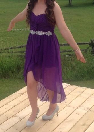 dress purple dress high low dress sparkly dress