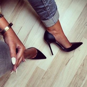 shoes high heels black heels pumps