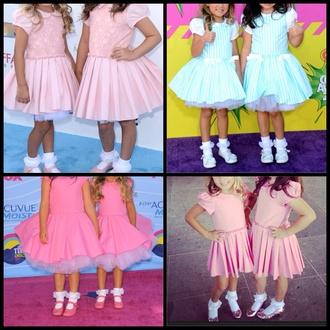 dress clothes ellen degeneres tulle skirt tutu dress celebrity style kids dress skater dress fit and flare dress puff sleeves cute dress pretty beautiful cute children