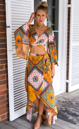 skirt dress skirt set ethnic chic wots-hot-right-now boho dress maxi skirt boho geometric summer dress beach sexy dress trendy