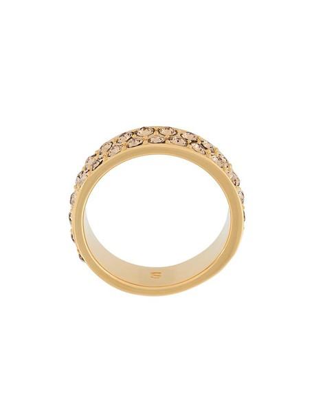 metallic women embellished ring jewels