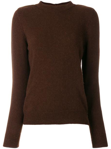 A.P.C. A.P.C. - round neck sweater - women - Yak - S, Brown, Yak