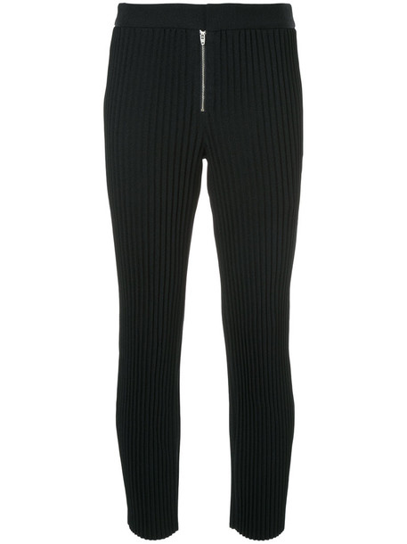 pleated women black pants