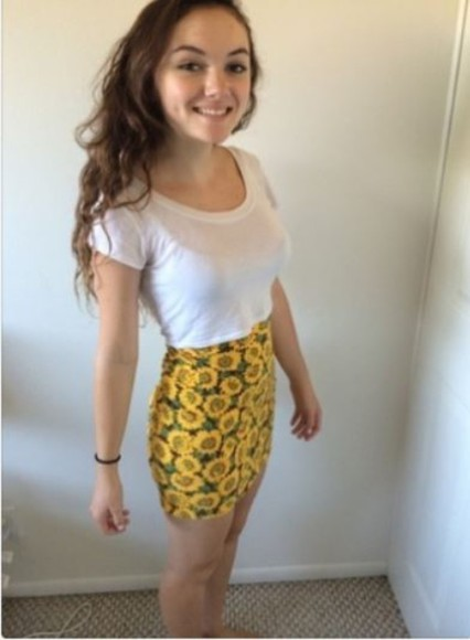 sunflower floral skirt forever 21 pencil skirt