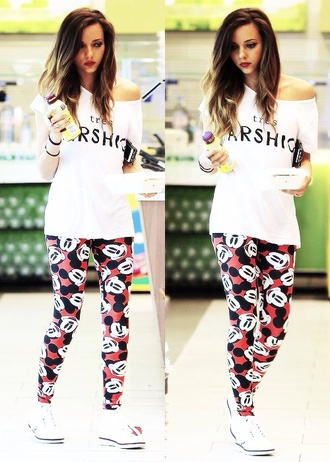 pants mickey mouse leggings white shirt mickey mouse disney disney clothes