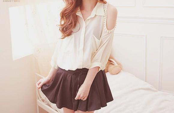 cut-out blouse kfashion
