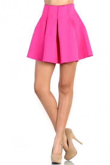 LoveMelrose.com From Harry & Molly | Fluffy Skater Skirt - Pink