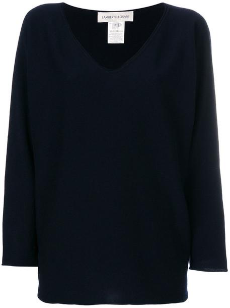 Lamberto Losani sweater oversized women blue