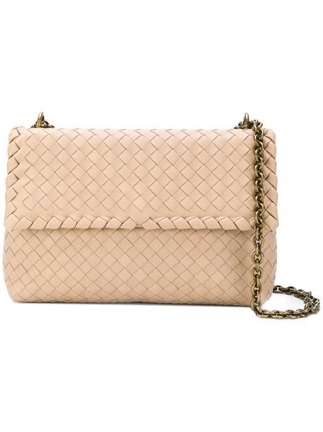 Bottega Veneta women bag shoulder bag leather nude