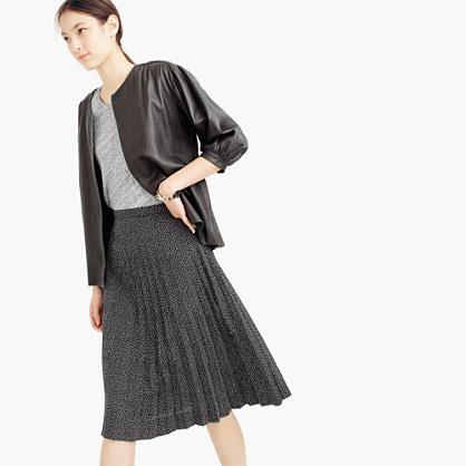 pleated midi skirt in mini dot