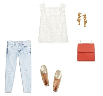 helena bordon blogger top shoes jeans bag jewels