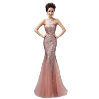 Amazon.com: Dearta Women's Mermaid/Trumpet Sweetheart Floor-Length Tulle Evening Dresses: Clothing