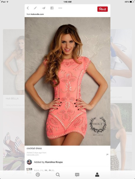 dress pink bodycon dress