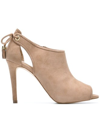 women booties leather nude suede shoes