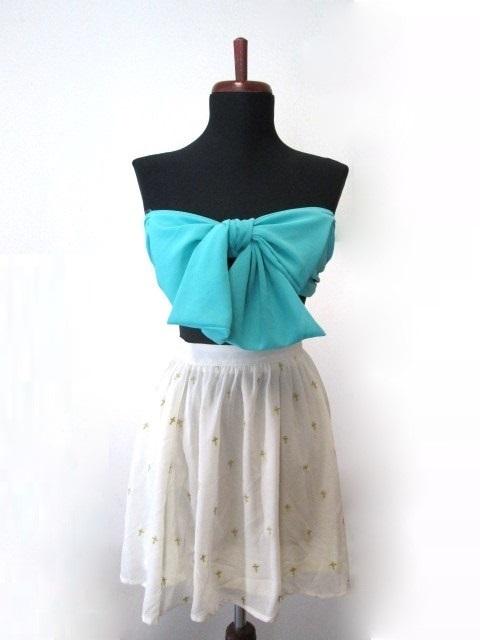 Emerald bow bandeau