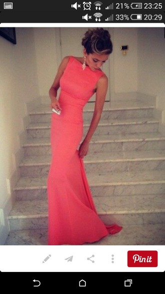 dress coral dress elegant dress debs dress evening dress prom dress
