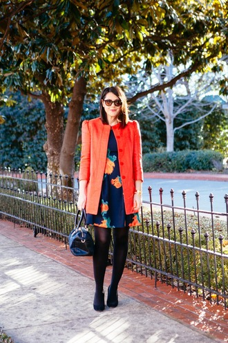 kendi everyday blogger dress coral floral dress