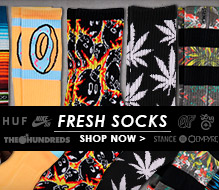 HUF Plantlife Black & Grey Crew Socks at Zumiez : PDP