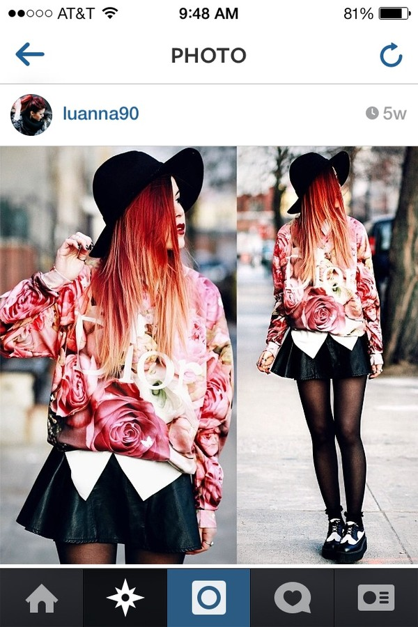 sweater pink roses