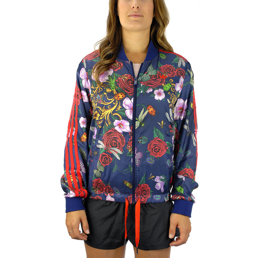 Adidas Women's Rita Ora Roses Supergirl Night Sky Track Jacket S11817 NEW!