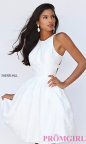 dress,sherri hill,open back,homecoming dress,little white dress,party dress,homecoming,short homecoming dress,2016 homecoming dresss,homecoming dress 2016,white party dress,white prom dress,short prom dress,2016 short prom dresses