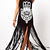 Boho Print Maxi Dress with Tassels [FXBI00581] - PersunMall.com