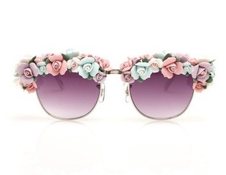 sunglasses boho flowers floral shades cute pastel sunnies summer accessories our favorite accessories 2015